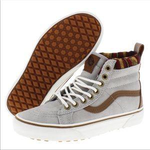 VANS Sk8-Hi MTE Knit Geo Tan Marshmallow Sneakers